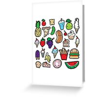 Playing with Food Greeting Card