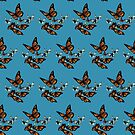 Butterfly Pattern - Monarchs and Blues by CatAstrophe