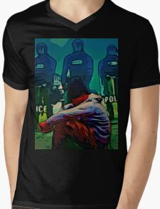 NON-VIOLENT BLACK RAGE Mens V-Neck T-Shirt