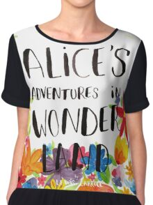Alice's Adventures in Wonderland Book Cover Chiffon Top