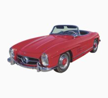 Red Mercedes Benz 300 SL Convertible Baby Tee