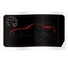 Mazda rx7 silhouette Poster
