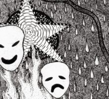 Comedy and Tragedy Sticker