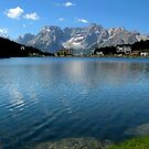 The blue water of Misurina Lake by annalisa bianchetti
