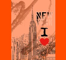 I LOVE NY Womens Fitted T-Shirt