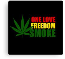 Reggae Smoke Canvas Print