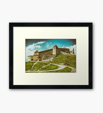Rasnov Medieval Citadel In Romania Built Between 1211 and 1225 Framed Print