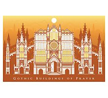 Gothic Buildings of Prayer Photographic Print