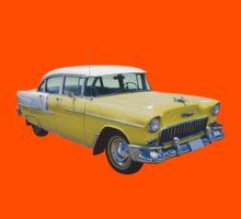 Yellow 1955 Chevrolet Bel Air Classic Car Kids Clothes