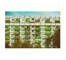Communist Building Apartments Art Print