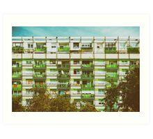 Communist Building Apartments Art Print