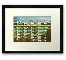 Communist Building Apartments Framed Print
