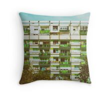 Communist Building Apartments Throw Pillow