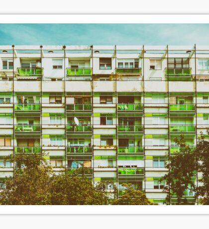 Communist Building Apartments Sticker