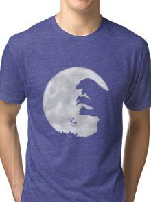 Godzilla v.s. E.T. Tri-blend T-Shirt