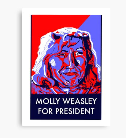 Molly Weasley For President Canvas Print