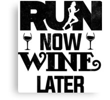 Run Now Wine Later T Shirt Adults Printed Workout Gym S Unisex Tank Top Men Women Fitness Marathon Exercise Funny Canvas Print