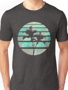Vaporwave Palm Trees in the Sun - Blue Unisex T-Shirt