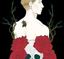 Kieren Walker - Roses and Skull by PepeVerde