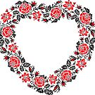 Red and Black Rose cross-stitch Pattern by igorsin