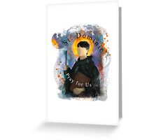 Saint Dominic Contemporary Catholic Art Greeting Card