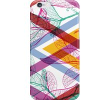 Leaves and triangle pattern iPhone Case/Skin