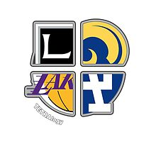 Los Angeles Pro Sports TETRAlogy! Dodgers, Lakers, Kings and Rams by SplitDecision