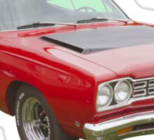 Red 1968 Plymouth Roadrunner Muscle Car Sticker
