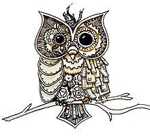 Steampunk Owl by AmandaRuthArt