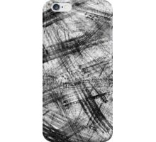 Black brush stokes iPhone Case/Skin