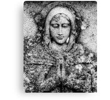 Saint In Stone Canvas Print