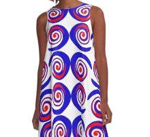 Abstract Mod Targets A-Line Dress
