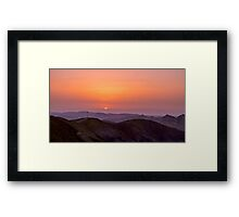 Israel, Negev, The Ramon Crater Framed Print