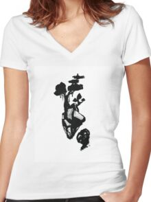 Island 6 of Set 2 Women's Fitted V-Neck T-Shirt