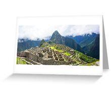 Peru, Cuzco, Old ruins of  Machu Picchu Greeting Card