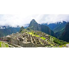 Peru, Cuzco, Old ruins of  Machu Picchu Photographic Print