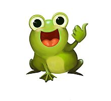 Thumbs Up Frog Photographic Print