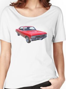 Red 1966 Chevy Chevelle SS 396 Women's Relaxed Fit T-Shirt