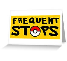 Pokémon GO - Frequent Stops! - Yellow Greeting Card