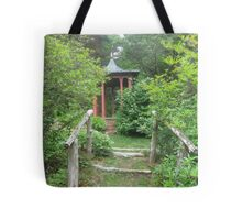 Pagoda in the Woods Tote Bag