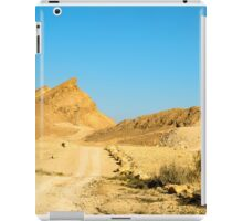 Dirt track through the  The Ramon Crater, Israel iPad Case/Skin