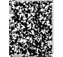 Crowded Flowers - Black and White iPad Case/Skin