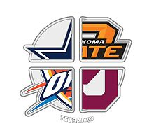 Oklahoma Sports TETRAlogy! Oklahoma City Thunder, Dallas Cowboys, Oklahoma State Cowboys and University of Oklahoma Sooners by SplitDecision