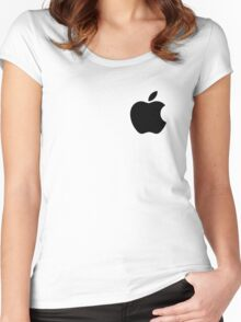 APPLE LOGO Women's Fitted Scoop T-Shirt