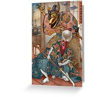 MYSTERY SCIENCE KABUKI Greeting Card