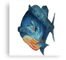 Piranha lurking, waterclour painting Canvas Print