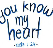 Acts 1: You know my heart Sticker