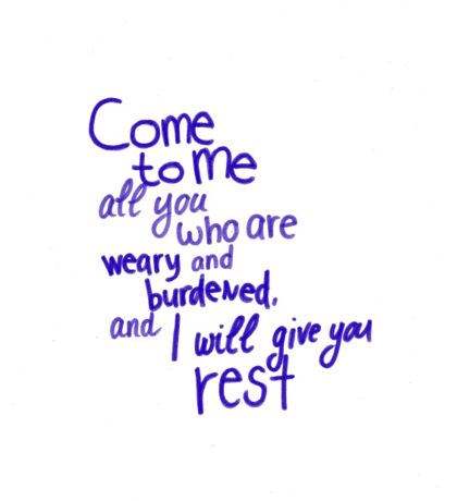 Matthew 11: Give you rest Sticker