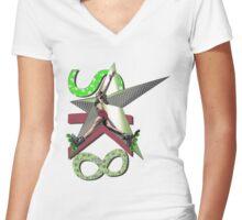 Got Balance? Women's Fitted V-Neck T-Shirt