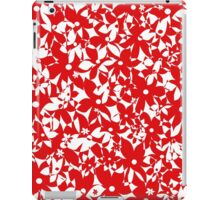 Crowded Flowers - Red iPad Case/Skin